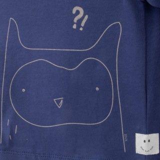 T-shirt manga comprida bebé algodão orgânico Confused Owl 5609232503331