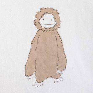 T-shirt long sleeve baby organic cotton Fluffly Creature 5609232570838