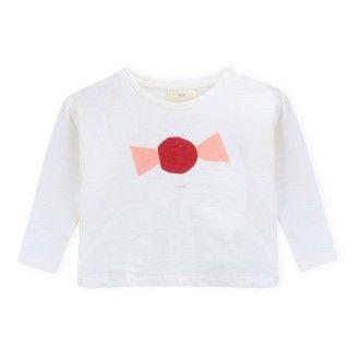 T-shirt manga comprida menina algodão orgânico A Candy 5609232485958
