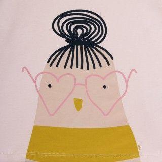 T-shirt manga comprida menina algodão orgânico Birdette 5609232496558