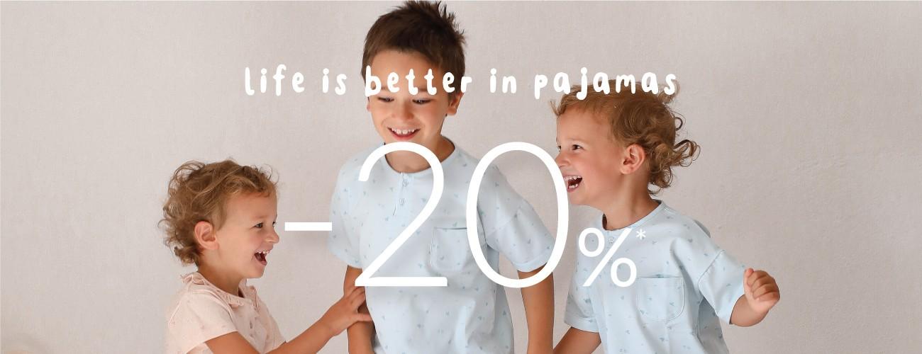 pijamas de verão com desconto -20%