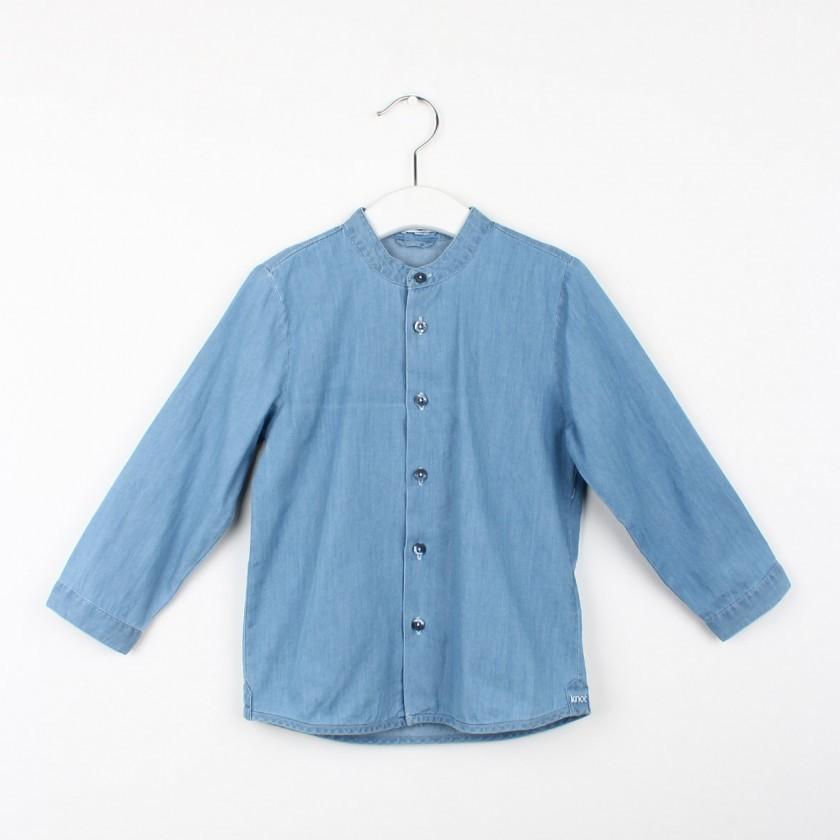 Camisa gola mao chambray