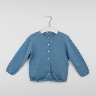 Casaco tricot decote redondo