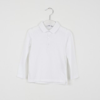Long sleeve beak collar polo