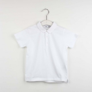 Short sleeve polo beak collar