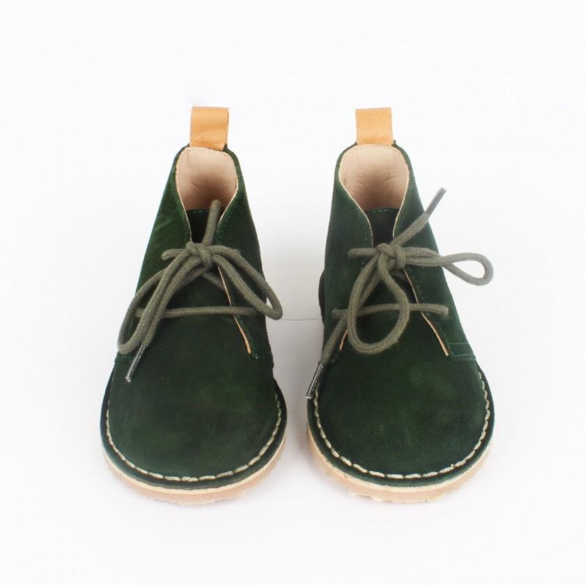 Pine green desert boots