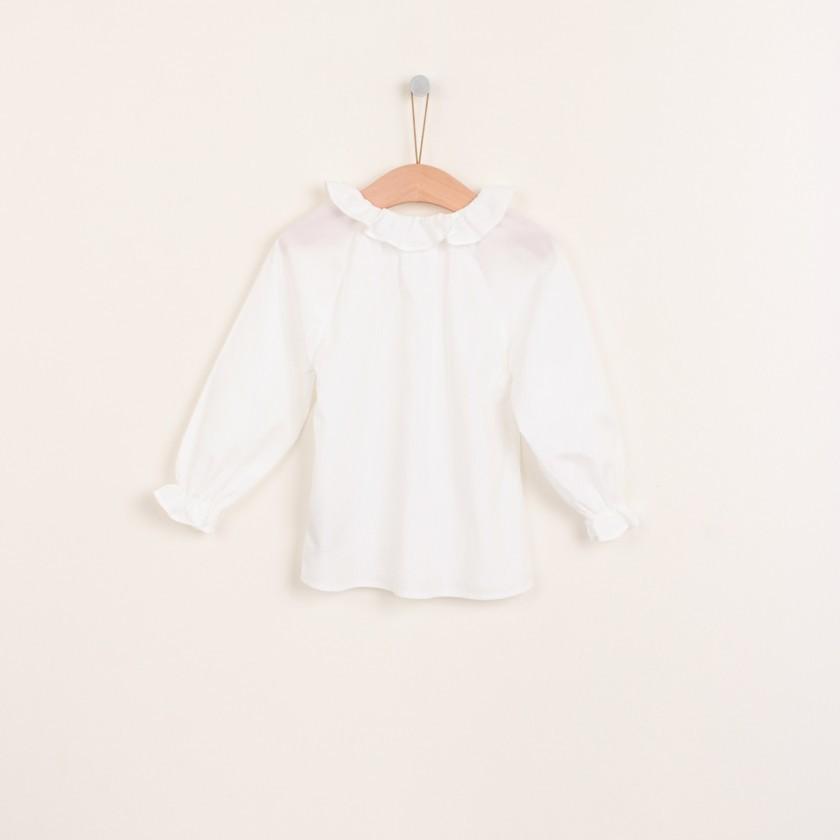 Bow collar blouse