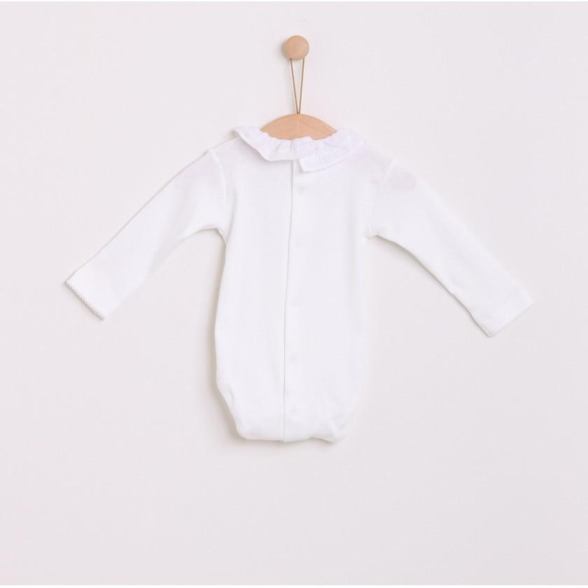 Body manga comprida algodão Dermacare
