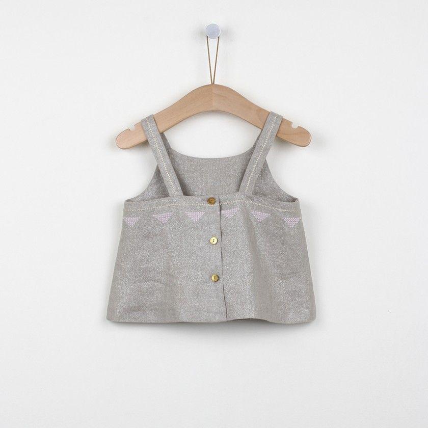 Metalic linen blouse