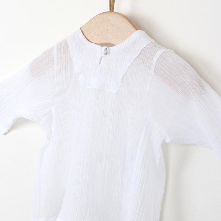Crepon fabric tunic
