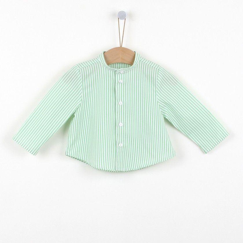 Mini stripes baby shirt