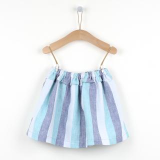 Ocean stripes frill skirt