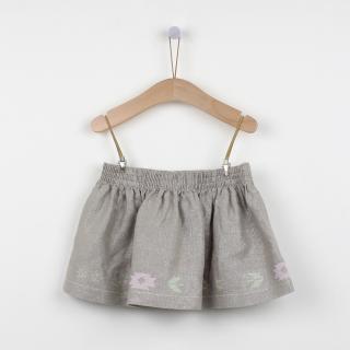 Metalic linen skirt