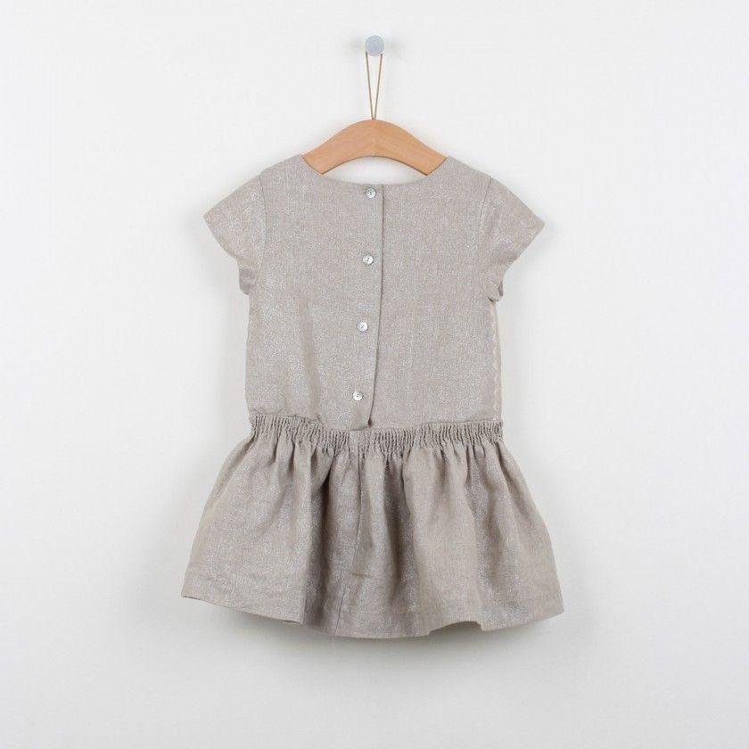 Metalic linen dress