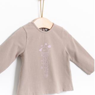 T-shirt manga comprida bebé algodão Sky