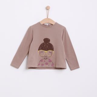 T-shirt manga comprida menina algodão Anna