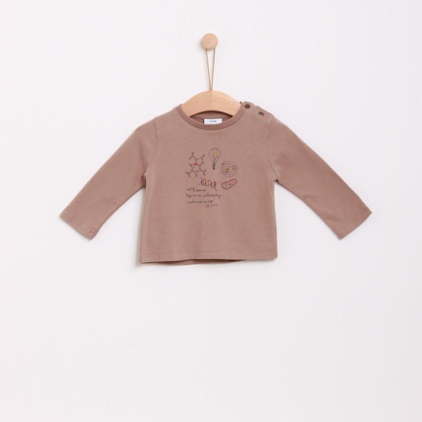 T-shirt manga comprida bebé algodão Ciência