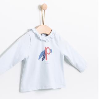 T-shirt manga comprida bebé algodão Papagaio