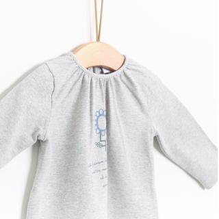 T-shirt manga comprida bebé algodão Wilde flower