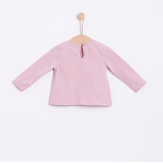 T-shirt manga comprida bebé algodão Flores
