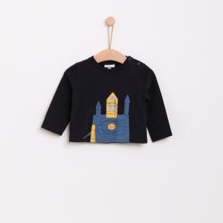 T-shirt manga comprida bebé algodão Castelo