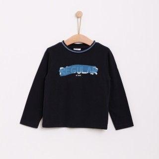 T-shirt manga comprida menino algodão Regular