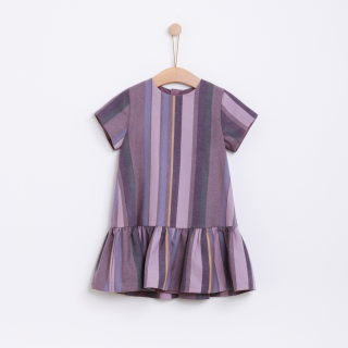 Art stripes dress