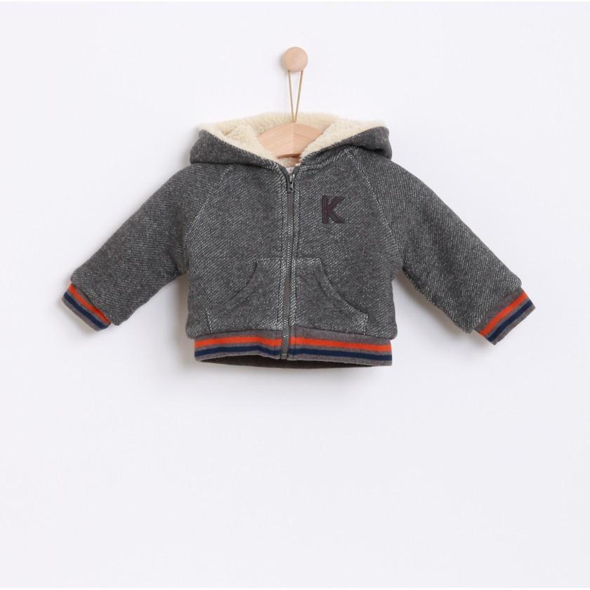 Lined cotton fleece jacket