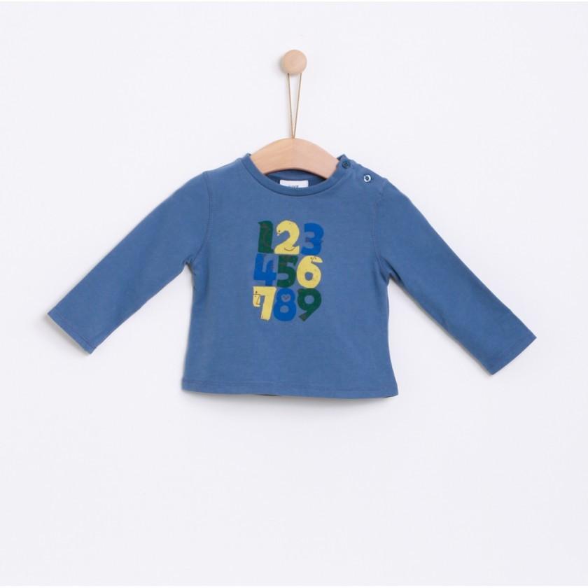 T-shirt manga comprida bebé algodão Números