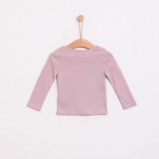 T-shirt manga comprida bebé algodão básica