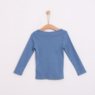 T-shirt manga comprida menina algodão básica