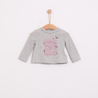 T-shirt manga comprida bebé algodão Borboletas