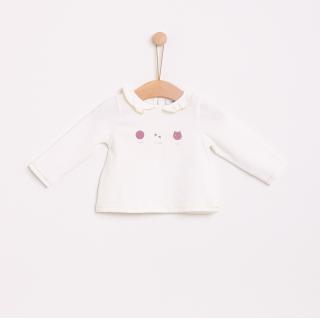 T-shirt manga comprida bebé algodão Gato