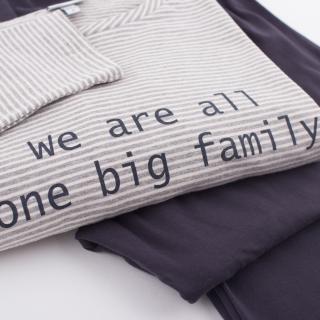Pajamas We are all one Big Family mummy