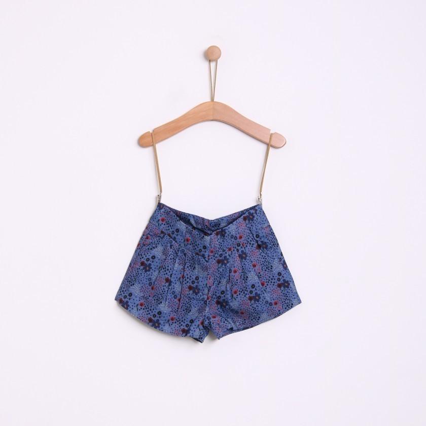 Shorts girl corduroy Flowers