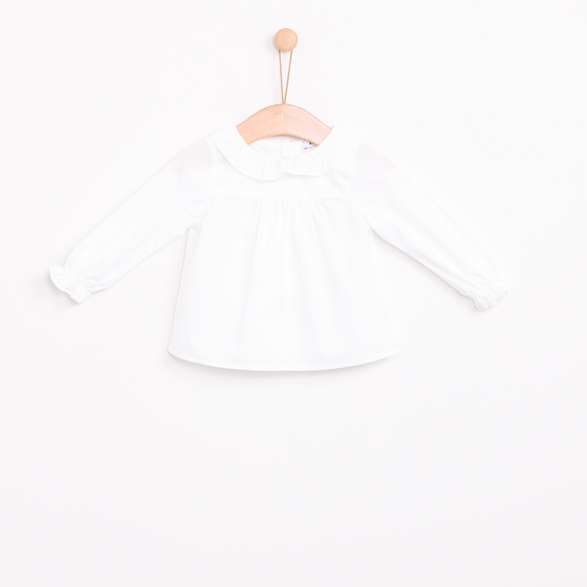 Blouse with Pierrot collar