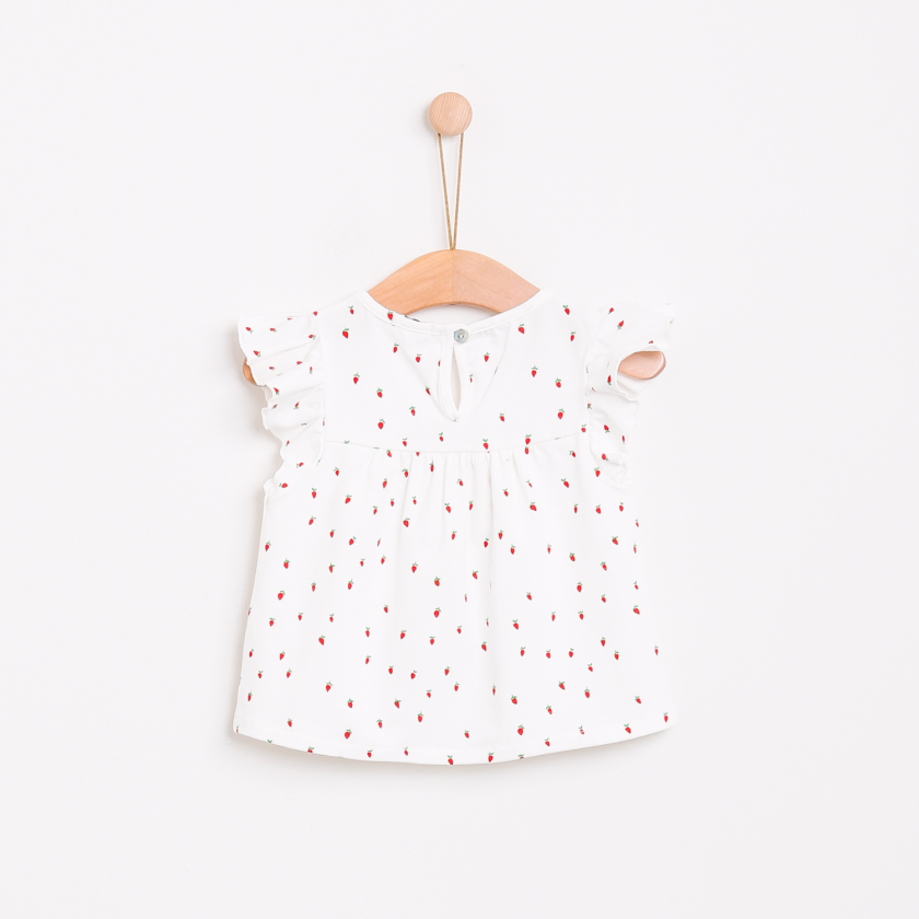 Strawberry field blouse