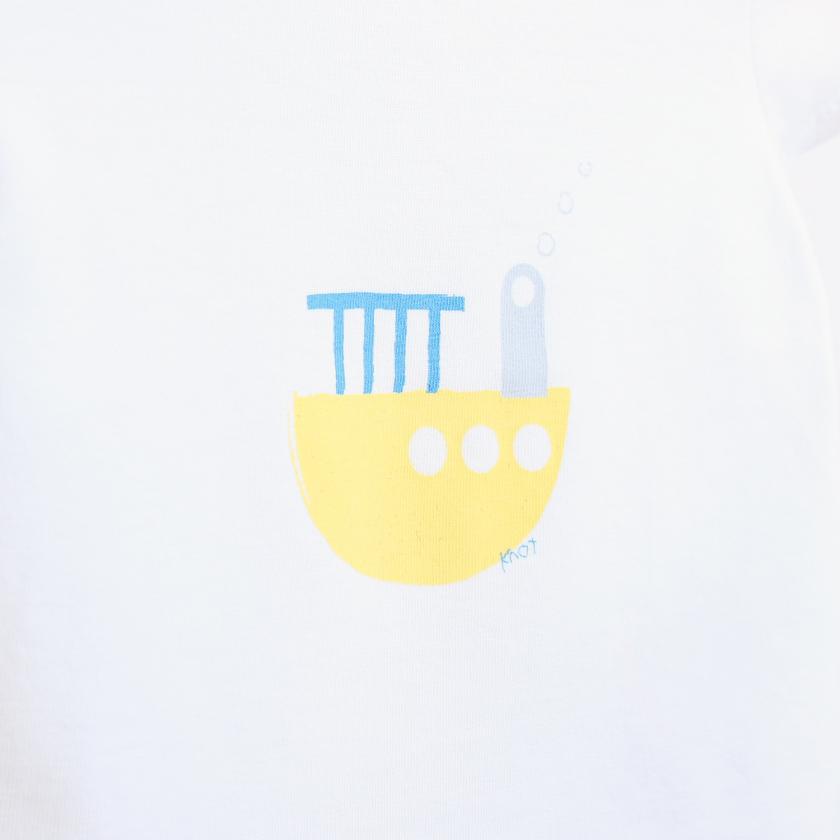 Yellow boat t-shirt