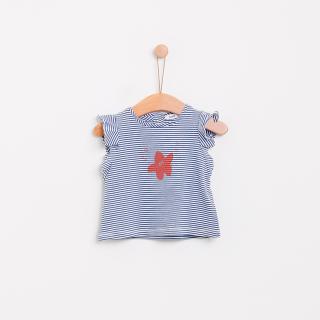 T-shirt riscas estrela