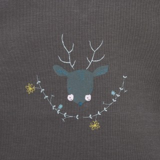 T-shirt Flowers Deer