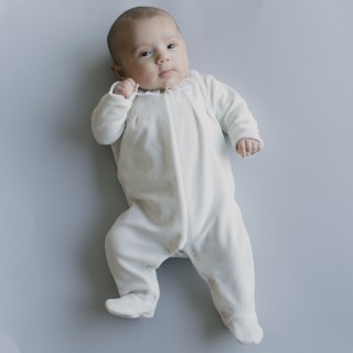 Silver Dots Babygrow