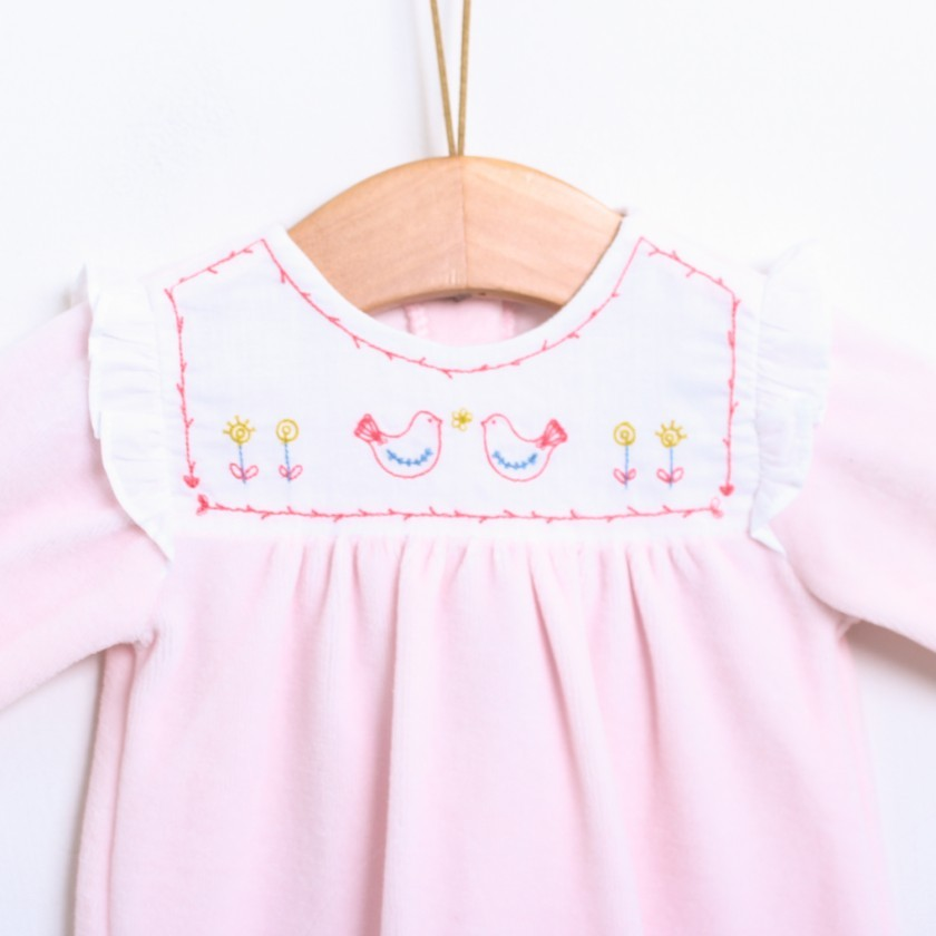 Birds and Flowers Babygrow