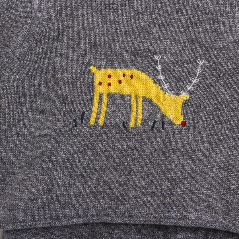 Deer knitted set