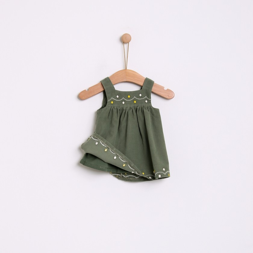 Embroided pinafore