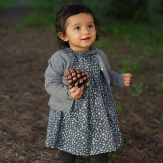 Vestido painted dots grey