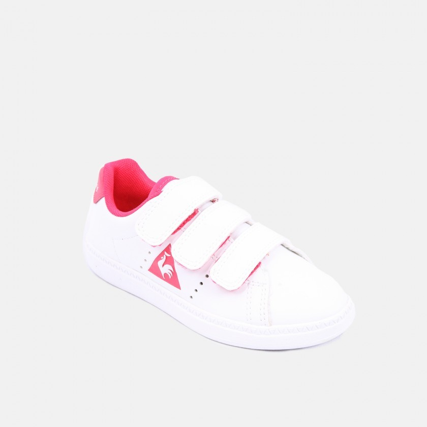 Le Coq sneakers pink detail