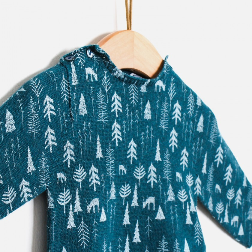 Kornsno forest knitted sweater