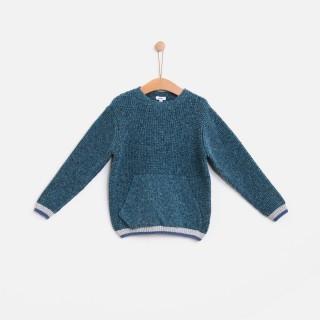 Camisola tweed jacquard
