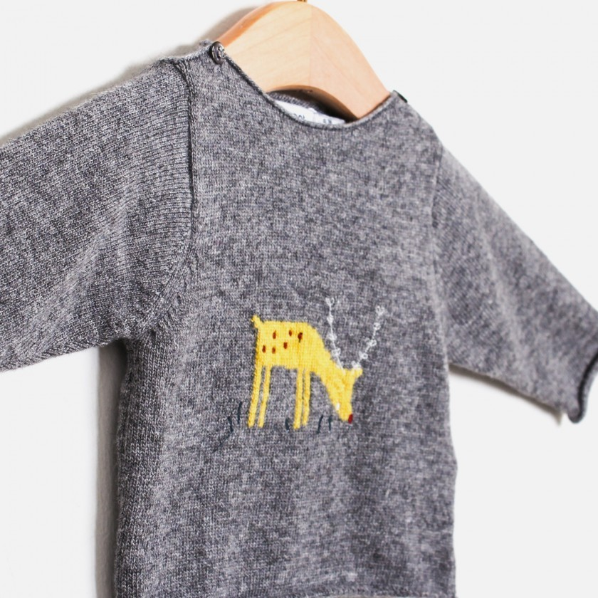 Camisola tricot deer