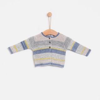 Casaco tricot hygge multistripes